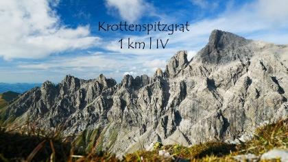 Der Krottenspitzgrat - längster Grat der Allgäuer Alpen