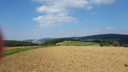 Blick Richtung Reichenbach/Plochingen kurz nach dem Weiler Friedhof