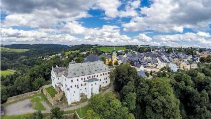 Luftaufnahme von Wolkenstein (Stadt-Schloss)