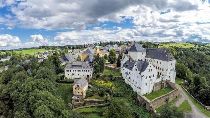 Luftaufnahme von Wolkenstein (Schloss)