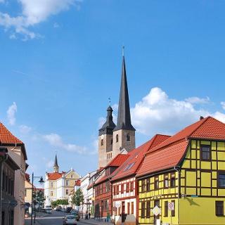 Burg, Blick zur Altstadt
