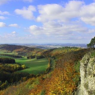 Aussicht vom Kammweg des Großen Hörselberges bei Eisenach
