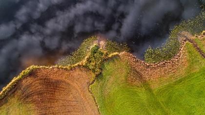 Blick auf den Lützelsee von oben, Hombrechtikon