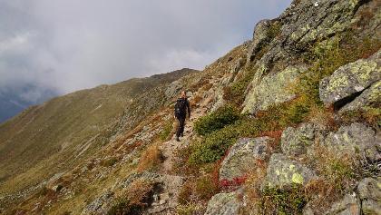 Kellerbauer Höhenweg kurz nach der Sonnklarhütte
