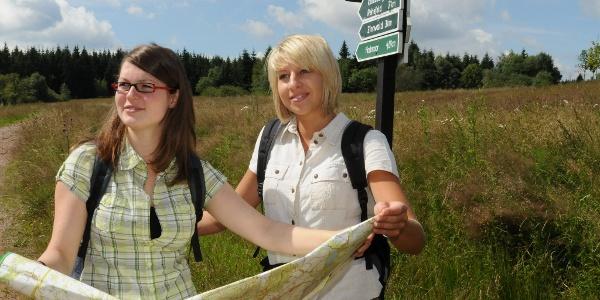 Wanderer auf dem Flemmingweg