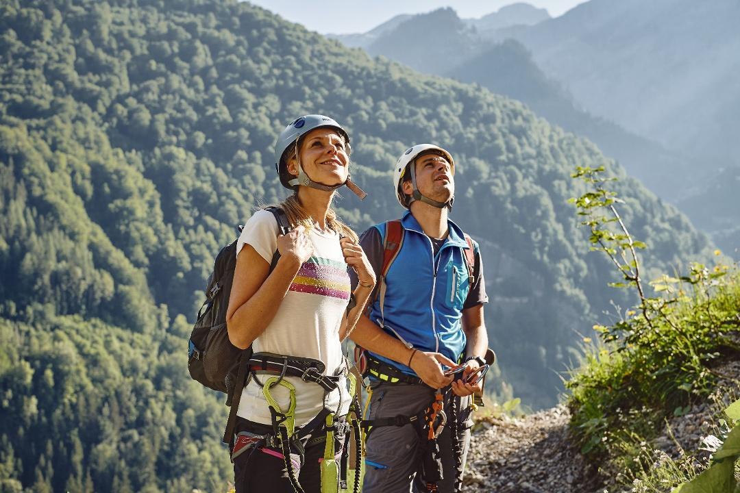 Klettersteig Fallbach : Klostertaler klettersteig am fallbach dalaas urlaub in vorarlberg