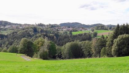 Blick vom Weiler Hof nach Konzell