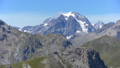 Mont Pelvoux vom Sommet du Prorel - Briancon