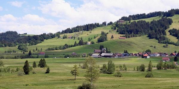 Landschaft hinauf zum Chatzenstrick