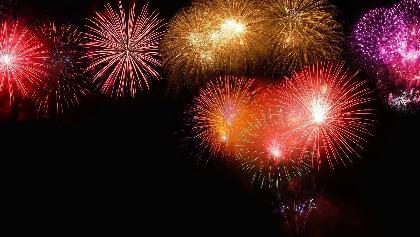 Feuerwerk zur Winterparty