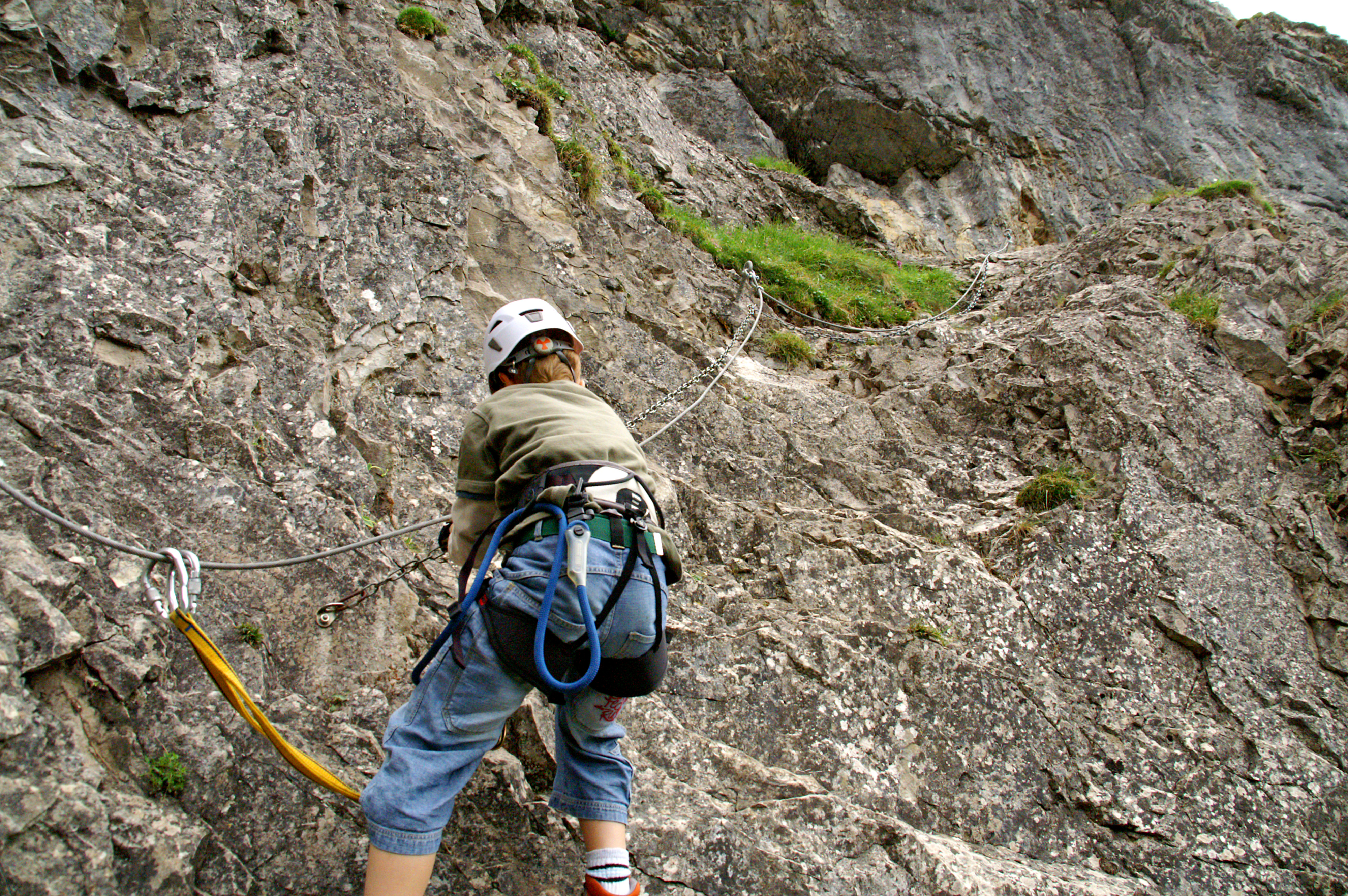 Im Klettersteig Chäligang.