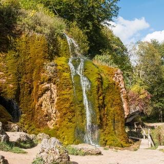 Glanzpunkt der Wanderung: Der Wasserfall von Dreimühlen
