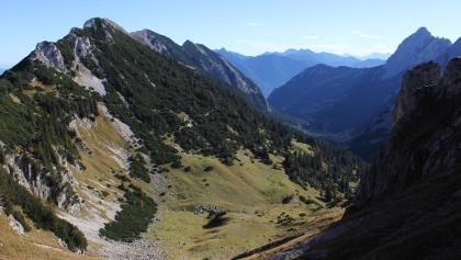 Blick Richtung Otto Mayr Hütte und Reintal