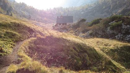 Rückblick zur Pühringer Hütte