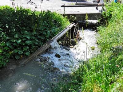 Wasserrad bei Langwies/Unter Wis