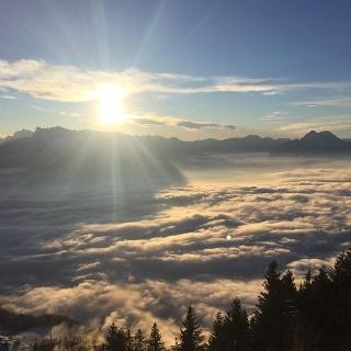 Ausblick von der Gaisbergspitze