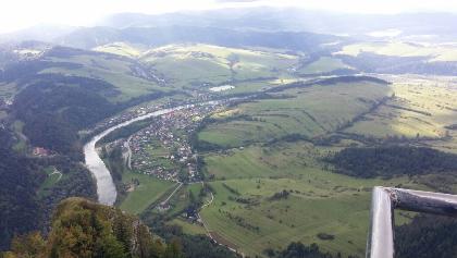 Blick auf den Fluß Dunajec