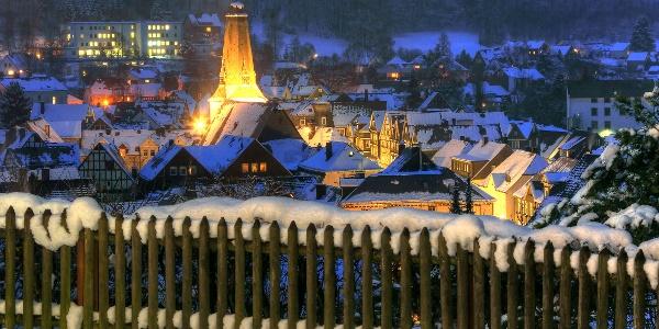 Altstadt Bad Laasphe bei Nacht
