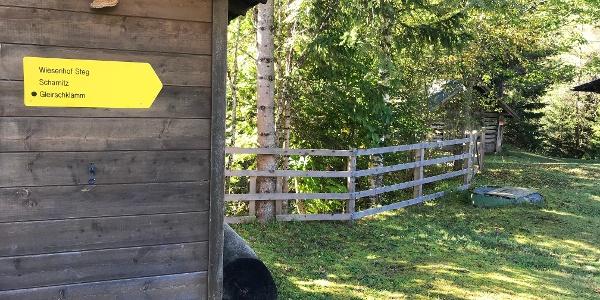 Startpunkt der Wanderung am Gasthof Wiesenhof
