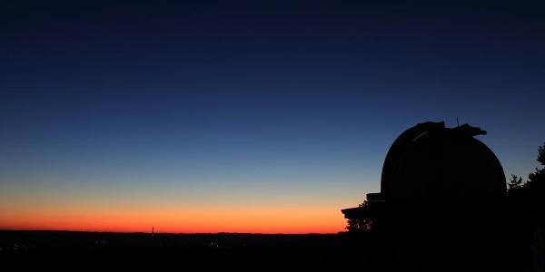 Sternwarte, Ausblick bei Nacht