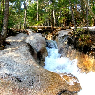 Wildbach in den White Mountains, New Hampshire