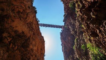 Bridge across the famous Aradena Gorge