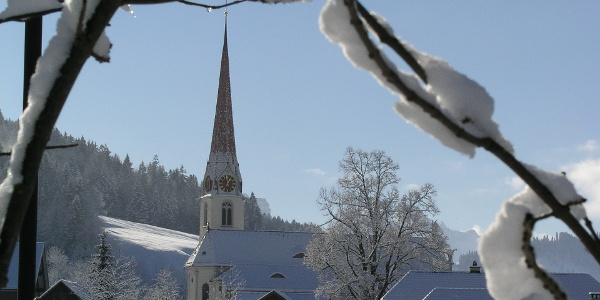 Wintermärchen im Dorf Marbach