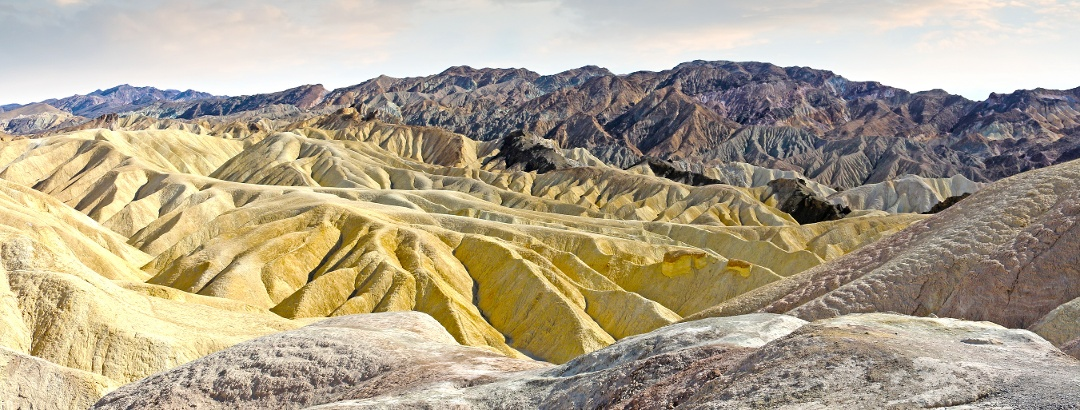 Sandy dunes in Death Valley National Park