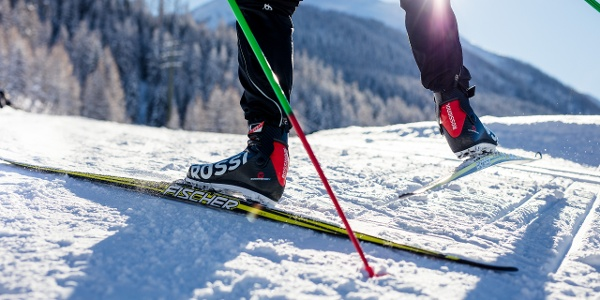 Cross-country ski run of medium difficulty