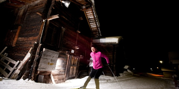 4,5 km de plaisir de ski de fond même le soir après le coucher du soleil