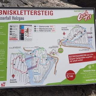 Tafel beim Klettersteig