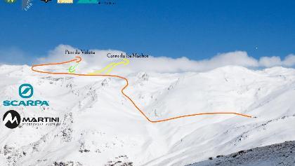 Pico de Veleta Topo - Übersichtsbild mit Route