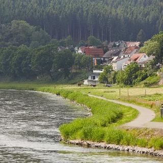 Die Weser bei Bodenfelde