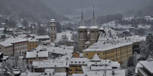Blick vom Kalvarienberg auf Berchtesgaden