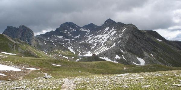 Rückblick zur Reichenberger Hütte