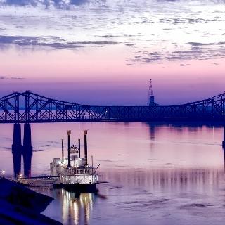 Vicksburg Bridge between Mississippi and Louisiana