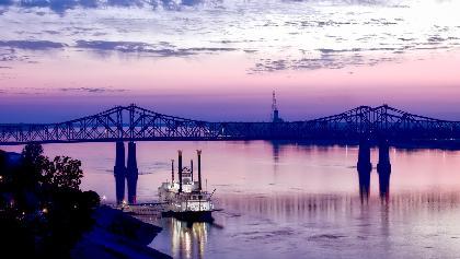 Vicksburg Bridge zwischen Mississippi und Louisiana