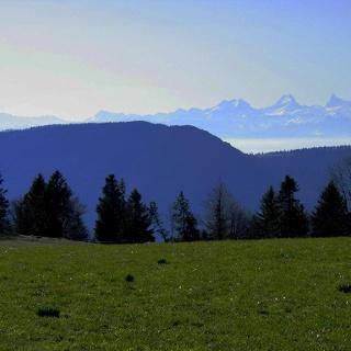 Blick auf Alpen von Raimeux de Grandval