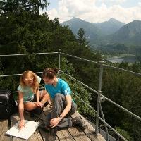 Blick vom Kalvarienberg auf Schloss Neuschwanstein