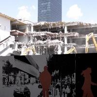 Messeturm Morger&Degelo/ Daniele Marques hinter Messe Baustelle