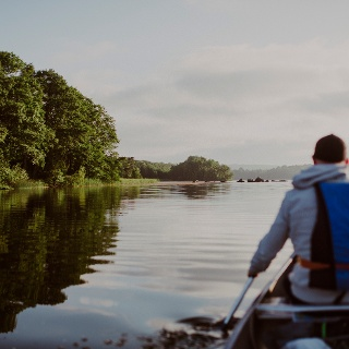 Canoeing-Ivösjön