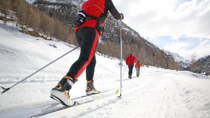 Ski de fond à Zinal, Val d'Anniviers