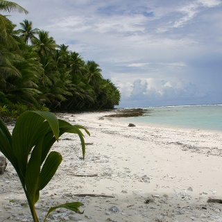Sandy beach, American Samoa