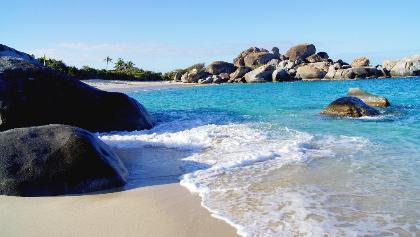 Bucht auf den Jungferninseln