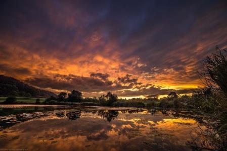 Sonnenuntergang überm Steißlinger See