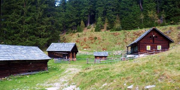 Vord. Neualm und Jagdhütte 1410m