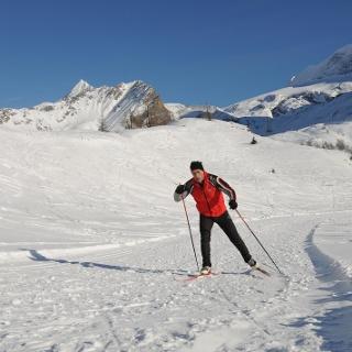 Cross-country skiing Simplonpass