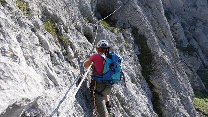 Klettersteig Eitweg : Guttenberghaus über ramsauer klettersteig zur seilbahn
