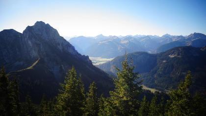 Blick auf Aggenstein und Tannheimer Tal