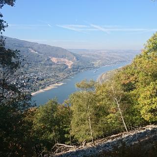 Blick vom Teufelskadrich ins Rheintal